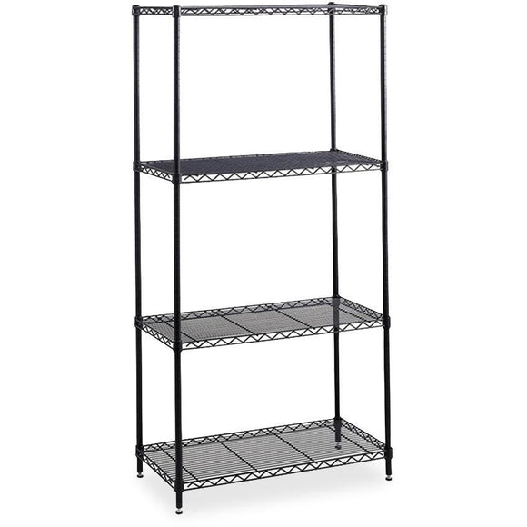 Safco Outlet Industrial Wire Shelving Starter Unit, 36