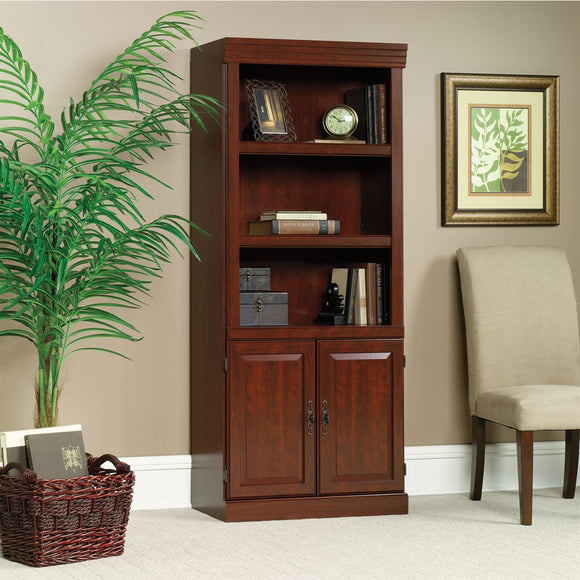 Sauder Heritage Hill Outlet 2-Door Bookcase, 71 1/4''H x 29 3/4''W x 13''D, Classic Cherry