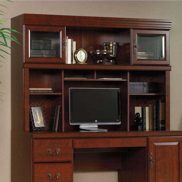 Sauder Heritage Hill Outlet Collection Credenza Hutch, 42''H x 59 1/2''W x 13 1/2''D, Classic Cherry