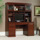 (Scratch and Dent) Sauder Heritage Hill Outlet Collection Credenza Hutch, 42''H x 59 1/2''W x 13 1/2''D, Classic Cherry