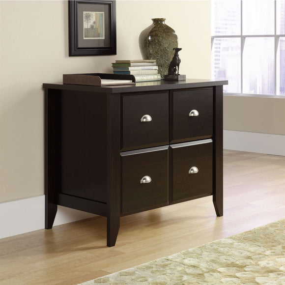 Sauder Outlet Shoal Creek 1-Drawer Lateral File Cabinet, Jamocha Wood