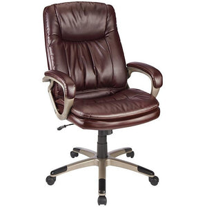 Realspace Harrington II Outlet High-Back Chair, Burgundy/Champagne