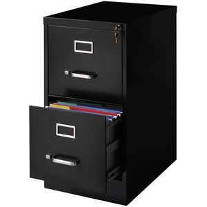 "(Scratch & Dent) Realspace PRO Outlet Steel Vertical File, 2-Drawer, 28 3/8""H x 15""W x 22""D, Black"