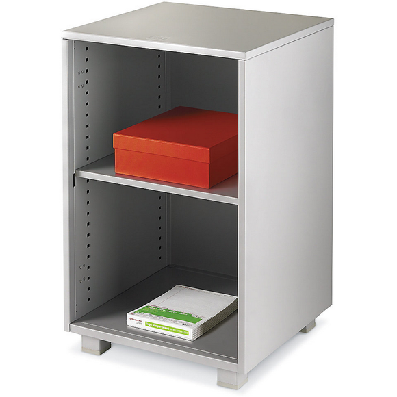 Realspace PRO Outlet ModOffice Open Shelf Pedestal Cabinet, 29