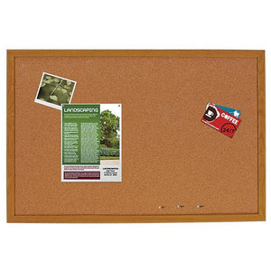"FORAY Outlet Cork Bulletin Board, 24"" x 18"""