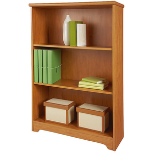 "Realspace Magellan Outlet Collection 3-Shelf Bookcase, 44""H x 30 1/2""W x 11 3/5""D, Honey Maple"