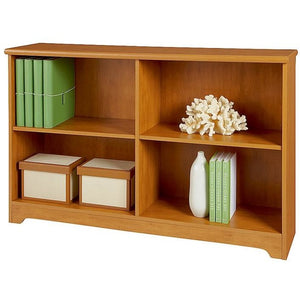 "(Scratch & Dent) Realspace Magellan Outlet Collection 2-Shelf Sofa Bookcase, 29""H x 47 1/4""W x 11 3/5""D, Honey Maple"