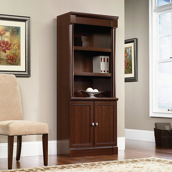 Sauder Outlet Palladia Collection Library With Doors, 71 7/8