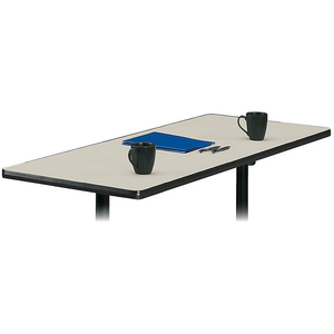 basyx by HON Outlet Rectangular Table Top Without Grommets, Light Gray