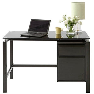 "(Scratch & Dent) Realspace Outlet Lake Point 46""W Writing Desk, Black"