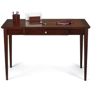 "Realspace Inlay Outlet Veneer Writing Desk, 30 1/2""H x 47 1/4""W x 22""D, Light Cherry"