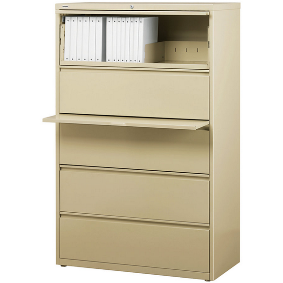 (Scratch & Dent) Realspace PRO Outlet Steel Lateral File, 5-Drawer, 67 5/8