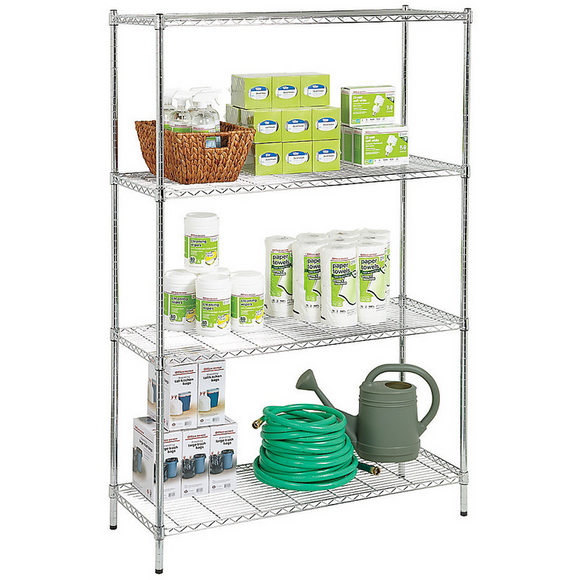 (Scratch & Dent) Realspace Outlet Wire Shelving, 4-Shelves, 72