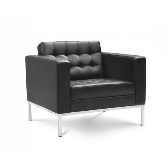 Chiarezza Luxe Lounge Chair, Bonded Leather
