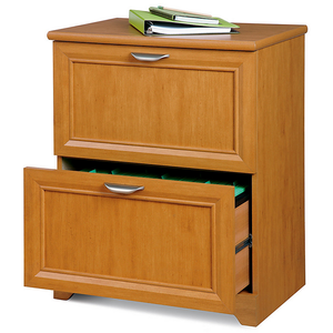 "Realspace Outlet Magellan Collection 2-Drawer Lateral File Cabinet, 30""H x 23 1/2""W x 16 1/2""D, Honey Maple"