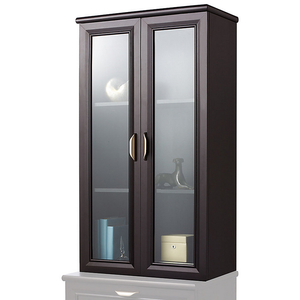 "Realspace Outlet  Magellan 3-Shelf Hutch With Doors, 42""H x 23 1/2""W x 11""D, Espresso"