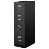 HON 510 Outlet Series 25''D 4-Drawer Letter-Size Vertical File Cabinet, Black