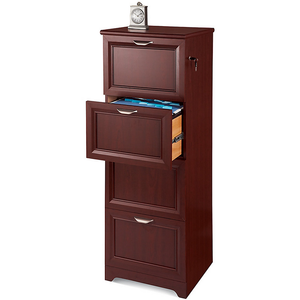 "Realspace Outlet Magellan Collection 4-Drawer Vertical File Cabinet, 54""H x 18 3/4""W x 19""D, Classic Cherry"