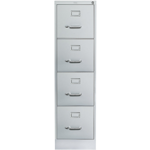 "(Scratch & Dent) Realspace PRO Outlet 26 1/2""D Vertical Letter-Size File Cabinet, 4 Drawers, Light Gray"