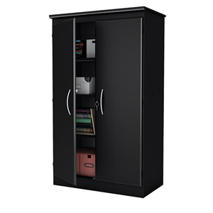 South Shore Morgan Storage Armoire, Pure Black