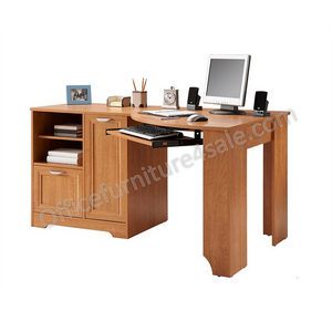 Realspace Outlet Magellan Collection Corner Desk, Honey Maple