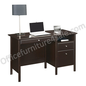 "Realspace Outlet Chase 47""W Writing Desk, Dark Chestnut"