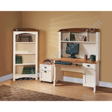 (Scratch and Dent) Christopher Lowell Outlet Shore Mini Solutions Workcenter, 63 1/4''H x 47 1/2''W x 23 1/2''D, Antiqued White