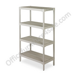 "Continental Outlet Ventilated Storage Shelf, 60""H x 36 1/4""W x 18 1/8""D, Oyster Gray"