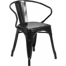 Samson Series Metal Indoor-Outdoor Chair with Arms
