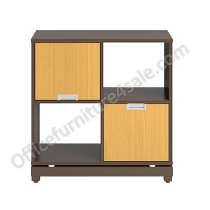 "Christopher Lowell Outlet Integr8 Storage Cube With Foot Kit, 30 1/2""H x 30""W x 15 3/8""D, Nexus Oak/Bronze Mist"