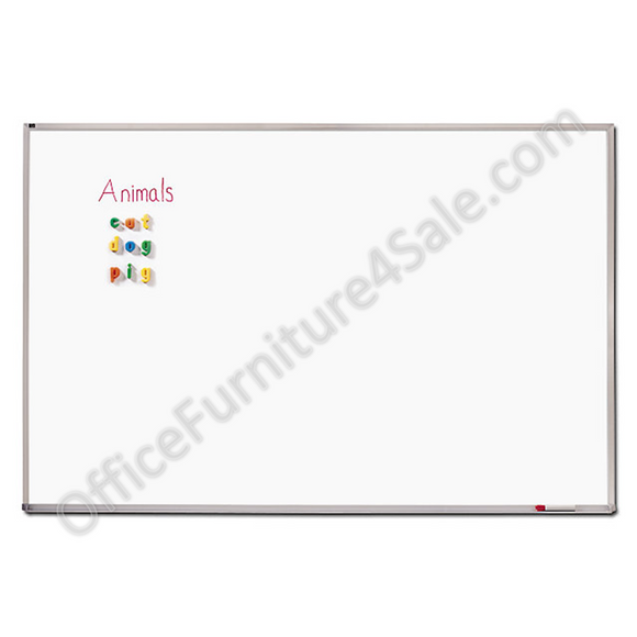 Quartet Outlet Porcelain Dry-Erase Board, White, 48