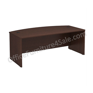 "(Scratch & Dent) Bush Business Furniture Components Bow Front Desk, 72""W x 36""W, Mocha Cherry"