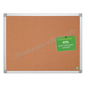 "(Scratch & Dent) MasterVision Outlet Earth Cork Board With Aluminum Frame, 36"" x 48"", 80% Recycled"