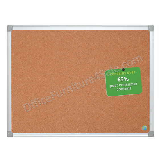 MasterVision Outlet Earth Cork Board With Aluminum Frame, 36
