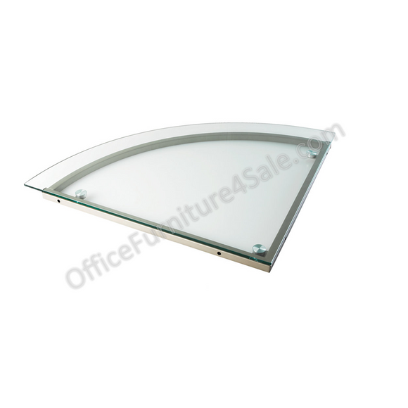 Realspace Merido Outlet Glass Corner Desk Connector, 1 1/5