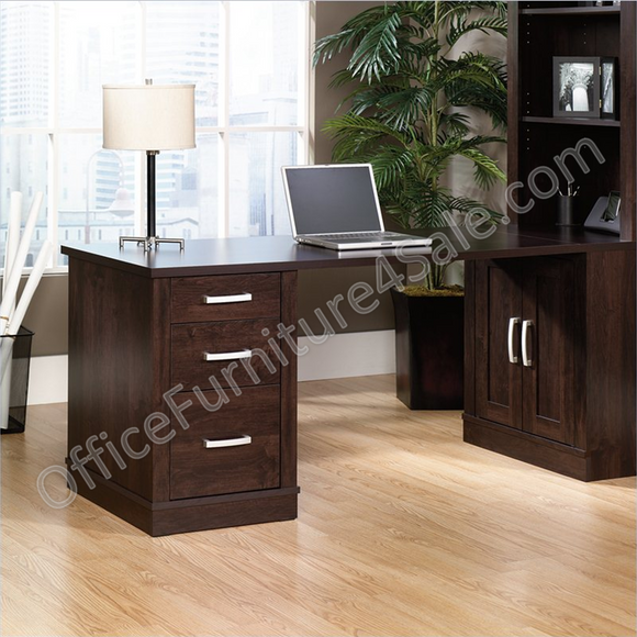 (Scratch & Dent) Sauder Office Port Collection, Library Return, Dark Alder
