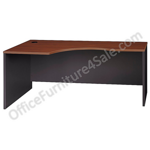 "Bush Business Furniture Outlet Components Corner Desk Left Handed 72""W, Hansen Cherry/Graphite Gray"
