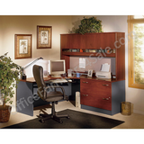 "Bush Business Furniture Outlet Components Corner Desk Right Handed 72""W, Hansen Cherry/Graphite Gray"