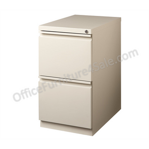 "Realspace PRO Outlet Mobile Pedestal File, 2 Drawers, 27 3/4""H x 15""W x 22 7/8""D, Putty"