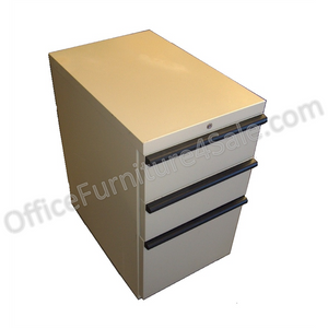 "HON 20000 Outlet Series Outlet 3-Drawer Mobile File Pedestal, 26 7/8""H x 15""W x 22 7/8""D, 92 Lb., Putty"