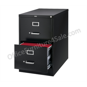 "(Scratch & Dent) Realspace PRO Outlet 26 1/2""D Vertical Legal-Size File Cabinet, 2 Drawers, Black"