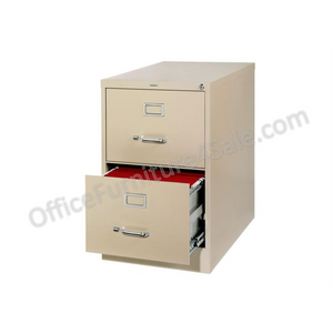 "Realspace PRO Outlet 26 1/2""D Vertical Legal-Size File Cabinet, 2 Drawers, Putty, Scratch & Dent"