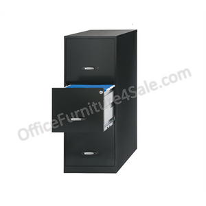 (Scratch & Dent) 3-Drawer Outlet Letter-Size Vertical File Cabinet, Black