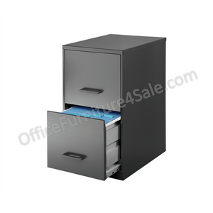 "Hirsh Industries Outlet Soho 2-Drawer Vertical Smart File, 24 1/2""H x 14 1/4""W x 18""D, Charcoal"