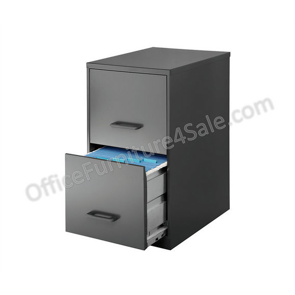 (Scratch & Dent) Hirsh Industries Outlet Soho 2-Drawer Vertical Smart File, 24 1/2