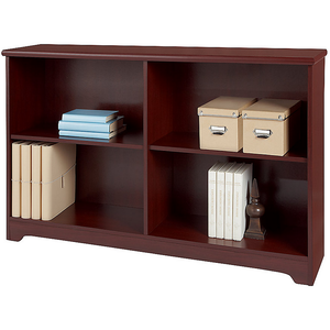 "Realspace Magellan Outlet Collection 2-Shelf Sofa Bookcase, 29""H x 47 1/4""W x 11 3/5""D, Classic Cherry"