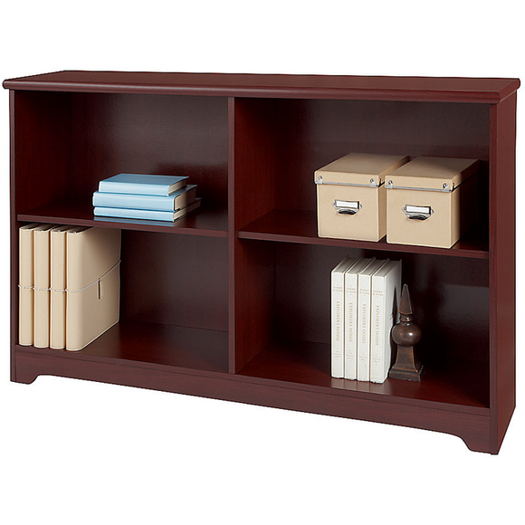 Realspace Outlet Magellan Collection 2-Shelf Sofa Bookcase, Classic Cherry