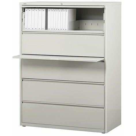 (Scratch & Dent) WorkPro Outlet Steel Lateral File, 5-Drawer, 67 5/8