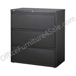 "(Scratch & Dent) Realspace PRO Outlet Steel Lateral File, 3-Drawer, 40 1/4""H x 36""W x 18 5/8""D, Black"