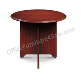 "Realspace Broadstreet Outlet Round Conference Table, Realspace Broadstreet, 37 3/4"" Diameter, Cherry"